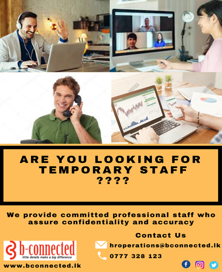 Are you looking for temporary staff?