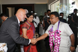 A warm welcome from the Country Director of WUSC, Richard Bonokoski, for the Chief Guest, Hon. Minister Dullas Alahapperuma