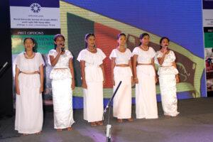Singing the National Anthem - Members of Sahan Ranwala's team