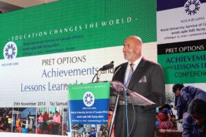 Richard Bonokoski, Country Director WUSC addressing the delegates