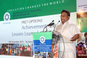 Hon. Minister Dullas Alahapperuma making his key note address