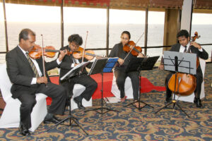 Ananda Dabare and his team providing the music during the High Tea